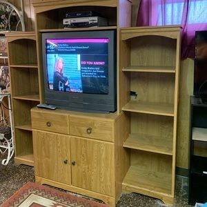 Accessories - Tv stand with the tv and a vcr. All together